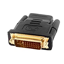 Uxcell a16020500ux0981 DVI-I Dual Link 24+5 Male to HDMI Female Connector Adapter