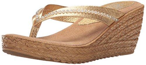Sbicca Women Zippa Wedge Sandal Gold