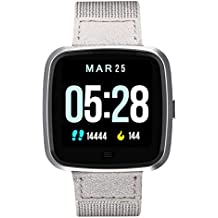 N Newkoin Smart Watch Waterproof Bluetooth Smartwatch with All-Day Heart Rate, Calorie and Fitness Tracking, Sports Watch for Men/Women, Compatible with Android and iOS (Grey)