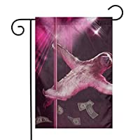 GDjiuzhang Stripper Sloth Home Garden Flag - Premium Material Yard Decoration& Outdoor Decoration 12x18 Inches
