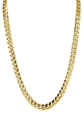 (Orostar 10K Yellow Gold 6MM Miami Cuban Curb Link Chain and Bracelet with Box Lock Clasp (22))