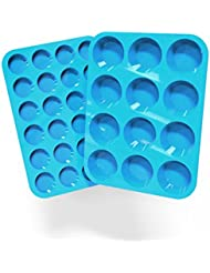 Silicone Muffin and Cupcake Pans – Set of 2