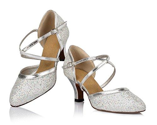 Damen MGM amp; Modern Heel Style2 Jazz Silver A Joymod 6cm fRRHq5