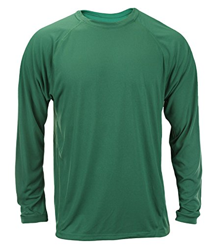 Adidas Men's Long Sleeve Climalite Shirt (Medium, Green)