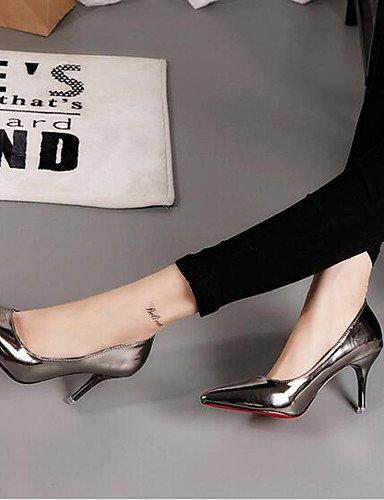GGX/Damen Schuhe Patent Leder Stiletto Heel Basic Pumpe/spitz Toe Heels Büro & Karriere/Party & Evening Schwarz/Grau gray-us5.5 / eu36 / uk3.5 / cn35