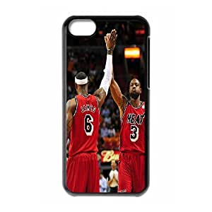 High Quality Phone Case For Iphone 5c -Miami Heat Dwayne Wade #3 Action Shot Phone Case-LiuWeiTing Store Case 9