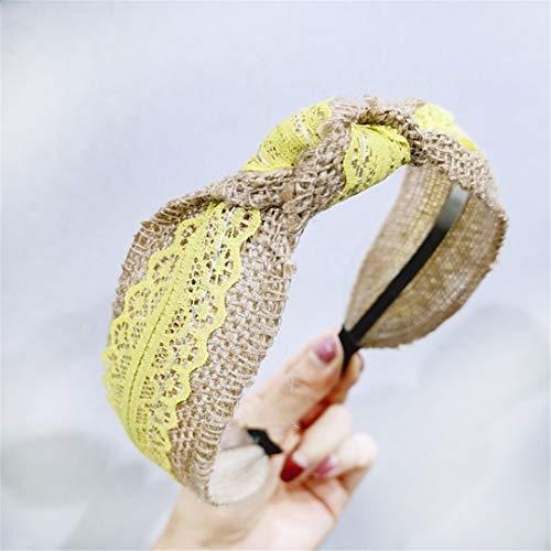 SHHOMELL Solid Knotted Handmade Straw Headband Turban for Women Girls Hoop Bezel Hairbands Hair Accessories Headwear 11