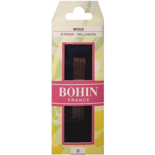 Bohin Milliners Hand Needles, Size 9, 15 Per Package - Milliners Hand Needles