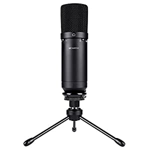 BC Master USB Microphone for Computer 16mm 10dp, Computer Microphone Low Noise Low Cut HD usb condenser microphone for Home Studio Skype Messages FaceTime Twitch YouTube Google Voice Search Games etc