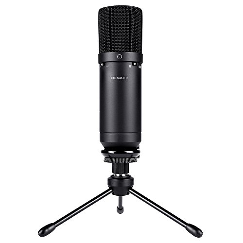 BC Master Microphone, USB Microphone for Computer, 16mm 10dp HD Condenser Microphone, Low Noise for Home, Studio, Skype Messages, FaceTime, Twitch, YouTube, Google Voice Search, Games etc