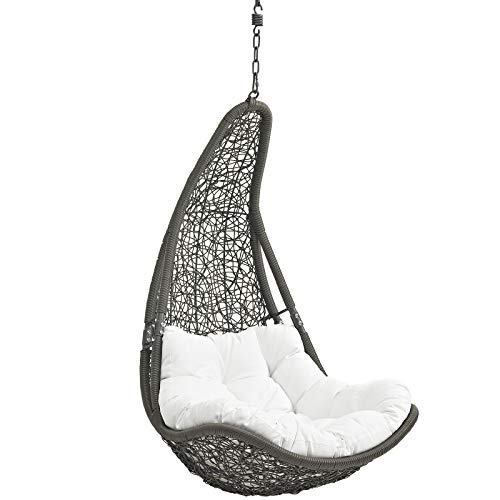 Modway Abate Outdoor Patio Swing Chair Without Stand, Gray White