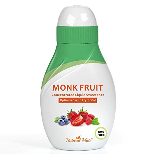 Monk Fruit Concentrated Liquid Sweetener (Optimized with Erythritol) 1.33 FL OZ (37 mL)