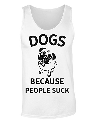 Dogs Because People Suck Cute Little Pug T-shirt senza maniche per Donne Shirt