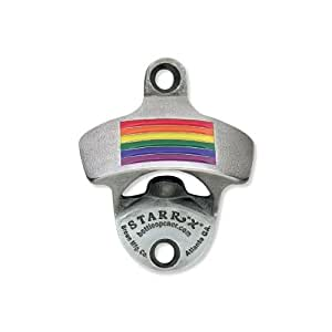 Rainbow Gay Pride Flag Zinc Aluminum Starr Wall Mount Bottle Opener US Made NEW!