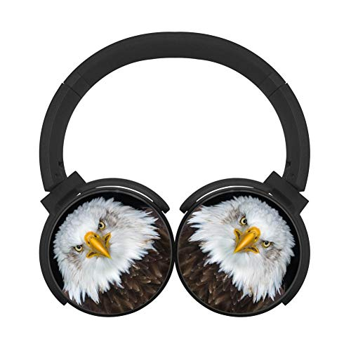 LLP-EARPHO Bald Eagle Eagle Bird Predator Bluetooth Headphones Computer Gaming Sleeping Headset Over Ear Earphone Perfect for Business/Office/Driving