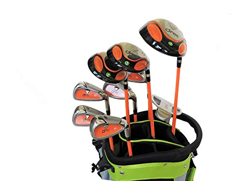 Droc - Dimond Series 9 Pieces Golf Club Set and Golf Bag Age 9-12 Boys Right Handed ()
