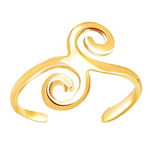 Yellow Gold Swirl Design - 1