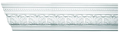 Designer's Edge Millwork DEM-147 Acanthus and Dots Crown Moulding 3-3/4