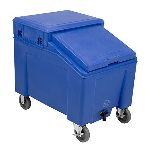 - Ice Caddy 100 Mobile Ice Bin for Ice Storage and Ice Retention (Blue)