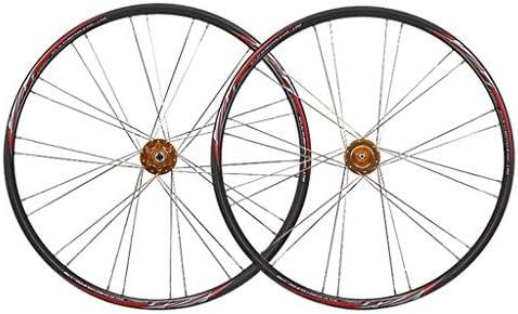 "GXFWJD MTB ホイールセット26"" 自転車の車輪 ダブルウォールアロイリム タイヤ1.75-2.1"" ディスクブレーキ 7-11速度 パリンハブ クイックリリース"