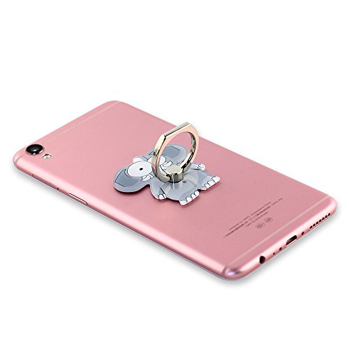 VEBE Cell Phone Finger Ring Holder Cute Animal Smartphone Stand 360 Swivel for iPhone, Ipad, Samsung HTC Nokia Smartphones, Tablet (Elephant)