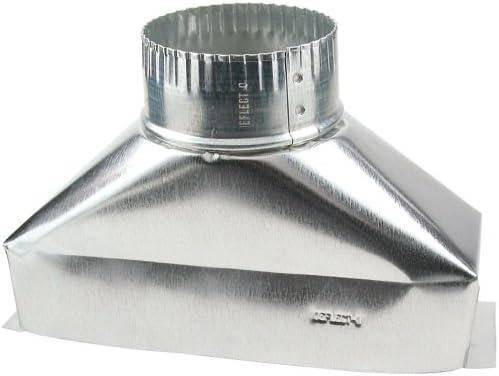 Deflect-O Jordan 4 in. Dia. x 10 in. L Galvanized Steel Duct