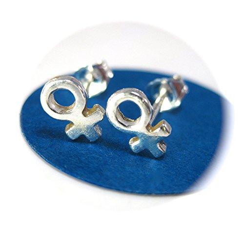 Female Gender Symbol Earrings, Gay Friendly Jewelry