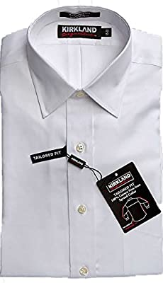 Kirkland Signature Men's Non Iron Button Down Dress Shirt