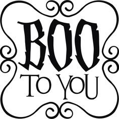 Boo to you Halloween Vinilo