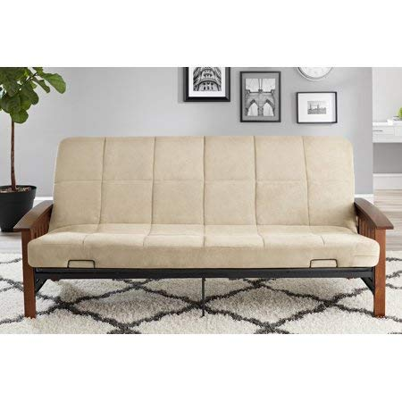 Better Homes & Gardens' Solid Mission Wood Arm Futon in Beige