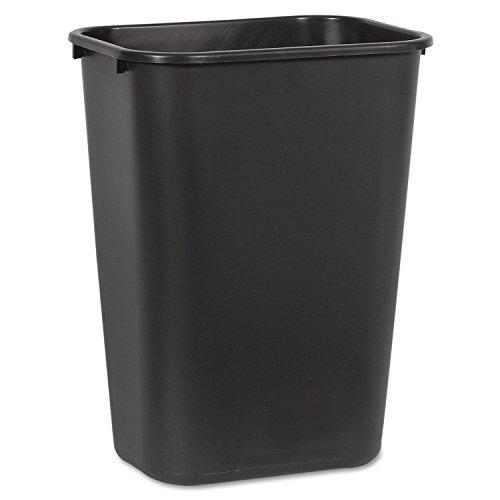 Boardwalk 41QTWBBLA Soft-Sided Wastebasket, 41 qt, Plastic, Black (Trash Plastic Can)