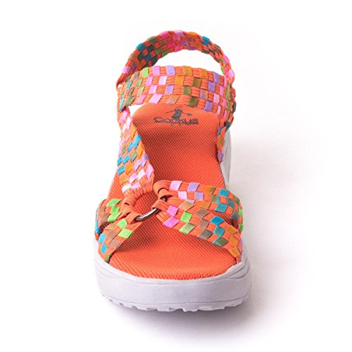 Black Toe Canvas Quickstep Corkys Multi Orange Sandal Open Sport Women H6X1qB