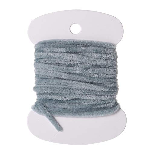 Card of Rayon Chenille 3.0m Fly Fishing Worms Chenille Floss Line Thread Woolly Fly Tying Materials Carp Fishing Tackle Pesca Light Grey