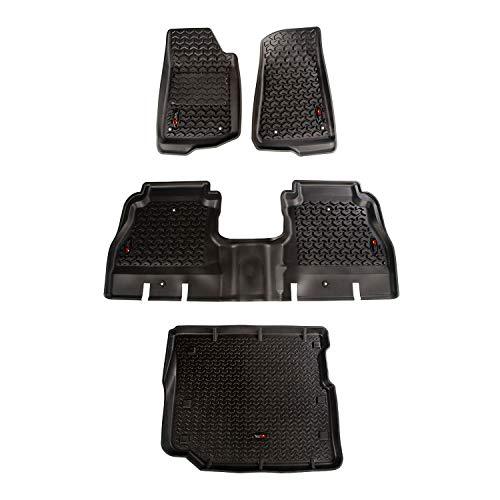 Rugged Ridge 12988.05 Floor Liner Kit, Front/Rear/Cargo; 18-18 Jeep Wrangler Unlimited JLU, 3 Pack