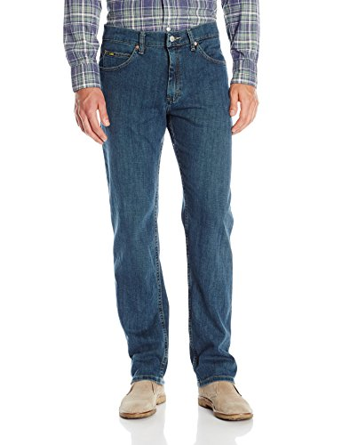 Lee Men's Regular Fit Straight Leg Jean, Titanium, 42Wx32L