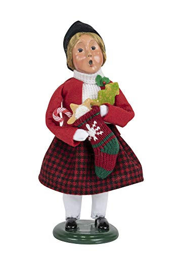 Byers' Choice Gingerbread Girl Caroler Figurine from The Christmas Market Collection #4463E (New 2019)