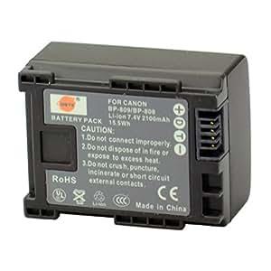 DSTE® BP-808 Li-ion Batería para Canon BP-807, BP-808, BP-809 and Canon FS200, FS300, FS400, FS21, FS22, FS31, FS40