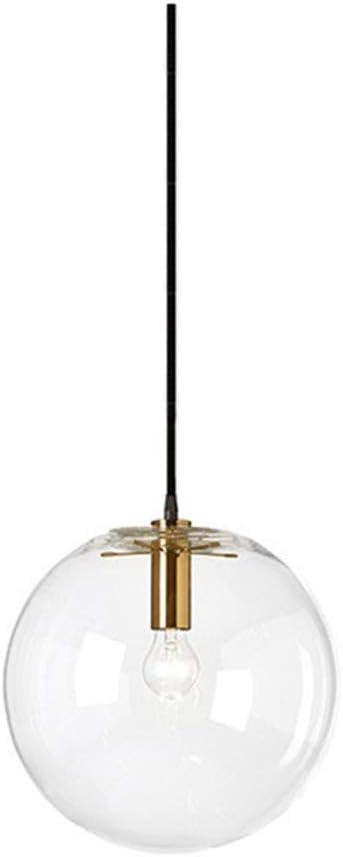 LED Hängelampe Lampenschirm Glaskugel Gold Ø30cm Esstischlampe Wohnzimmerleuchte