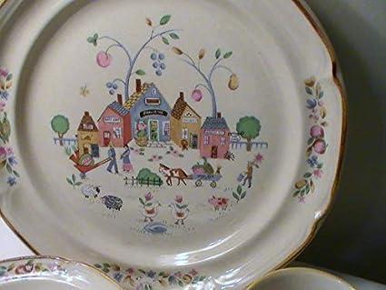 International Tableworks Heartland Village 105 Dinner Plates   Set Of 4