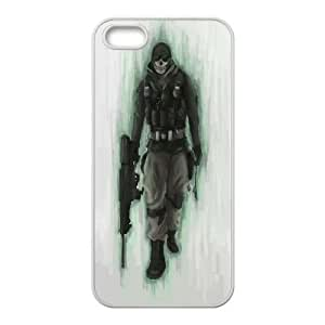 Qxhu Call of Duty Ghosts patterns Hard Plastic Cover Case for Iphone5,5S