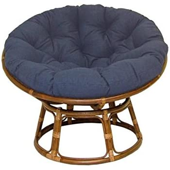 Amazon Com Rattan Papasan Chair With Fabric Cushion