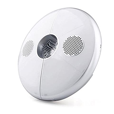 BooTaa Rechargable Patio Umbrella Light Bluetooth Speaker, Wireless 64 LED USB Potable Parasol Lights with White Light & RGB Color Changing, Camping Lamp Built-in 4000mAh Lithium Battery Power (White Ion Speaker)
