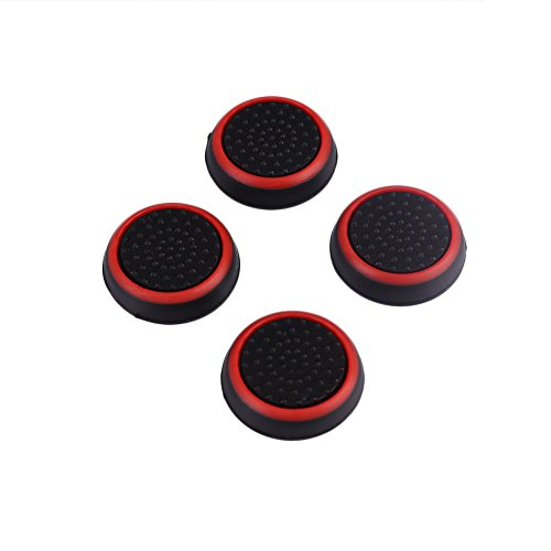 Cewaal 4Pcs Controller Gamepad Joystick Thumb Stick Silicone Grip Caps Protector Cover For PlayStation PS3 PS4 XBOX
