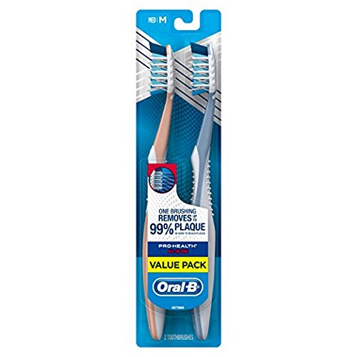 Oral-B Pro-Health All-In-One 40 Medium CrossAction Bristles Toothbrush, (Twin Pack)