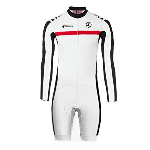 Uglyfrog Cycling Bike Skinsuit with Gel Pad Long sleeve Jersey-Short Legs Men's Outdoor Sports Wear Triathlon Clothes