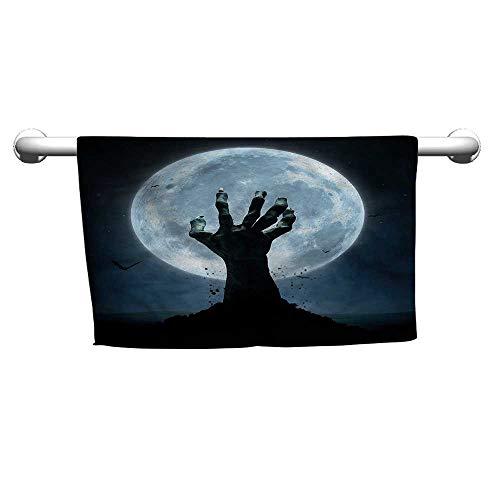 flybeek Art Towel Halloween,Zombie Grave,Hooded Towel for Kids -