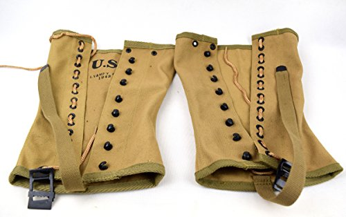 Replica WWII US Canvas Pants Gaiter Leggings Puttee