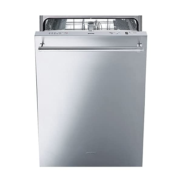 Smeg 24'' Fully Integrated Dishwasher with Stainless Steel Door, 13 Place Settings, 5 Wash Cycles Panel Ready 1