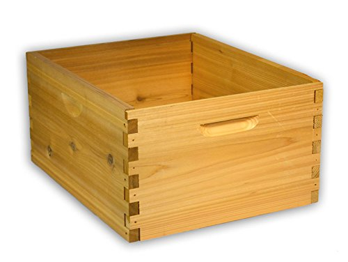 10 Frame Deep Hive Box Budget Cedar Wood for Langstroth Beekeeping Made in USA, 16 x 19 x 9 Inches Cedar Frame