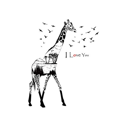 USLovee3000 Clearance Silhouette Giraffe Wall Sticker PVC Removable Art Room Haunted Decal Decor]()